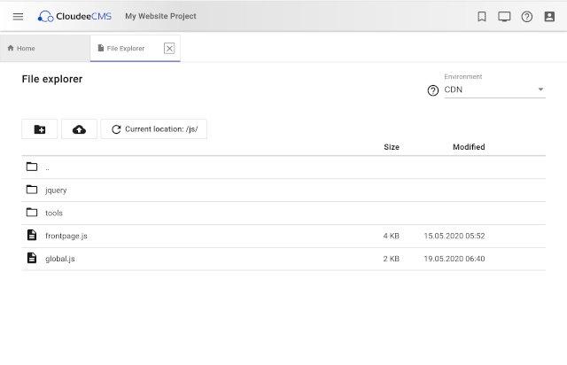 File explorer for CDN resources